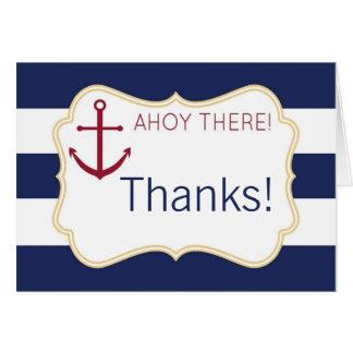 Ahoy allí la fiesta de bienvenida al bebé náutica  tarjeta pequeña