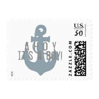 Ahoy! anchor custom postage stamp