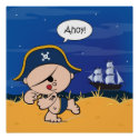 Ahoy Baby! Pirate Poster Print print
