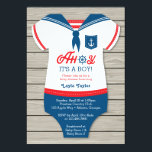 """Ahoy Baby Shower Invitation, Sailor, Nautical Card<br><div class=""""desc"""">Ahoy! Baby shower ahead! Invite your guests with this cute sailor-themed invitation.</div>"""
