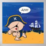 ¡Ahoy bebé! Impresión del poster del pirata