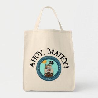 Ahoy bolso afable bolsa tela para la compra