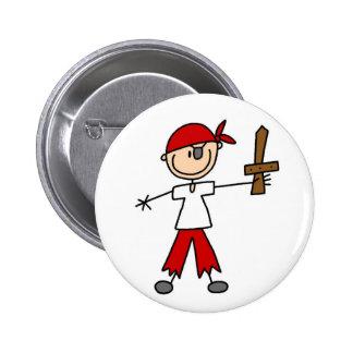 Ahoy botón del pirata pin