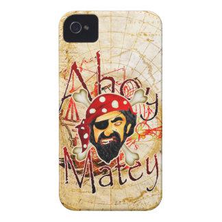 Ahoy caja afable de Blackberry del pirata Carcasa Para iPhone 4