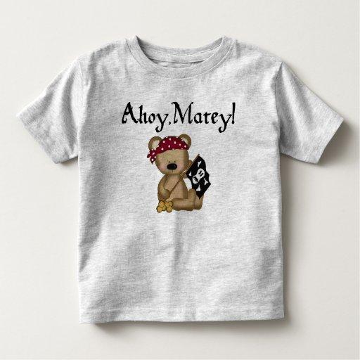 Ahoy camisa afable del niño del pirata del oso de