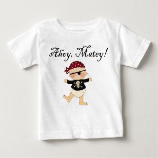 Ahoy camiseta afable del pirata del bebé playera para bebé