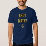 Ahoy camiseta afable poleras