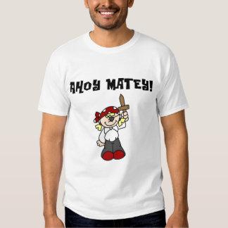 Ahoy camisetas y regalos afables del pirata del camisas
