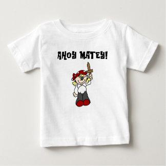 Ahoy camisetas y regalos afables del pirata del playera para bebé