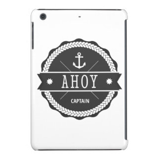 AHOY capitán Badge con el ancla Fundas De iPad Mini Retina
