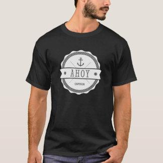 AHOY Captain Badge with anchor T-Shirt