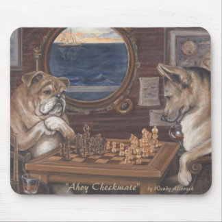"""""""Ahoy Checkmate"""" Mouse Pad"""