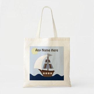Ahoy compañero personalizado la bolsa de asas náut