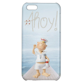 Ahoy! Cute Sailor on Boardwalk Case For iPhone 5C