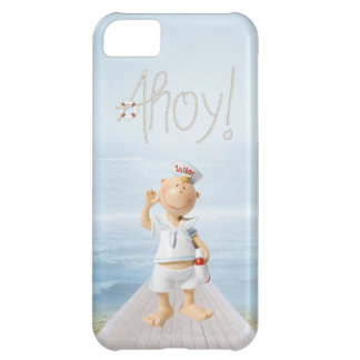 Ahoy! Cute Sailor on Boardwalk Cover For iPhone 5C