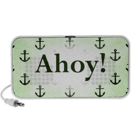 ¡Ahoy! Diseño del modelo del ancla verde claro PC Altavoces