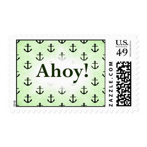 ¡Ahoy! Diseño del modelo del ancla verde claro Sello