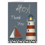 Ahoy el barco de vela y el faro le agradecen felicitación