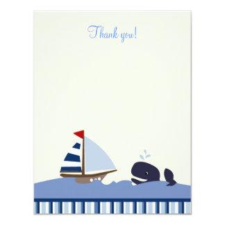 Ahoy el plano de la ballena azul 4x5 del compañero