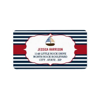 ¡Ahoy es un muchacho! Etiquetas náuticas de la Etiqueta De Dirección