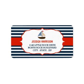 ¡Ahoy es un muchacho! Etiquetas náuticas de la Etiquetas De Dirección