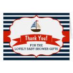 ¡Ahoy es un muchacho! Gracias náuticas de la Tarjeta Pequeña