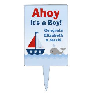 Ahoy es un primero de la torta de la fiesta de decoraciones de tartas