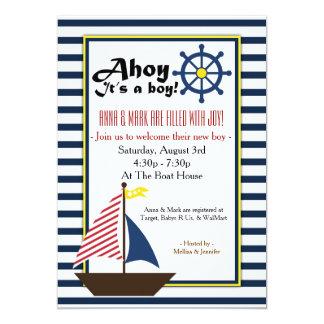Ahoy es una invitación de la fiesta de bienvenida invitación 12,7 x 17,8 cm