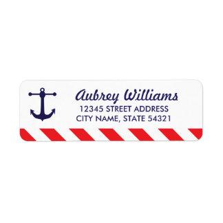 ¡Ahoy! Etiquetas de dirección náuticas