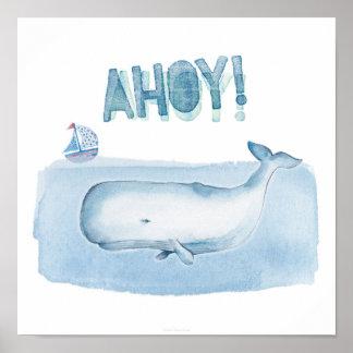 Ahoy! from a Sperm Whale- 12x12 Art Print