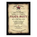 Ahoy invitación de la fiesta de cumpleaños del invitación 12,7 x 17,8 cm