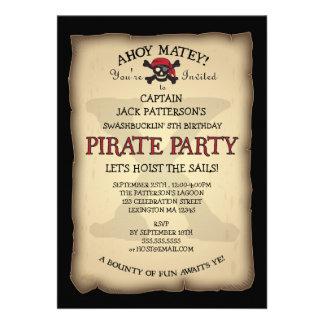 Ahoy invitación de la fiesta de cumpleaños del pir