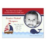 Ahoy invitación náutica del nacimiento de la foto