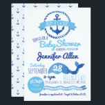 "Ahoy It&#39;s a Boy! Baby Shower Invitation<br><div class=""desc"">Nautical watercolor themed boy baby shower invitation.</div>"