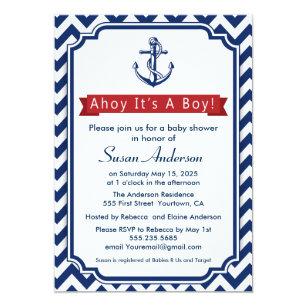 Ahoy! Itu0027s A Boy! Baby Shower Invitation