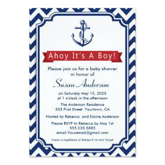 Ahoy! Itu0026#39;s A Boy! Baby Shower Invitation