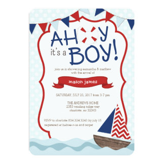Exceptional Ahoy Itu0027s A BOY! Baby Shower Invitation