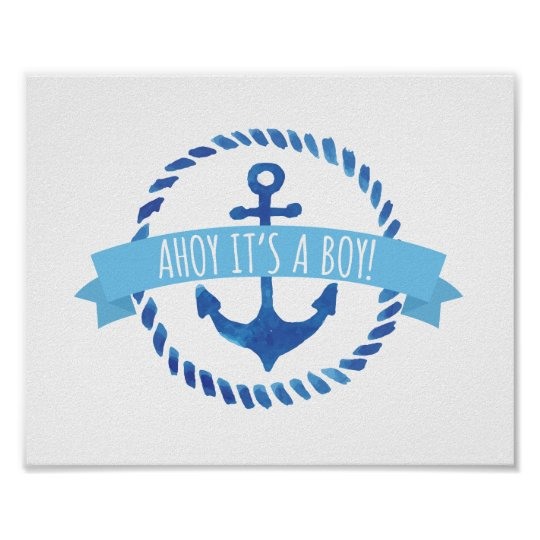 Ahoy Itu0027s A Boy Baby Shower Sign