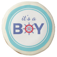 Ahoy It's A Boy Baby Shower Sugar Cookie