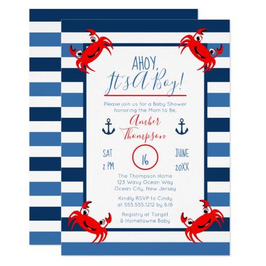 fresh nautical theme baby shower invitation for 13 nautical theme baby shower invitations