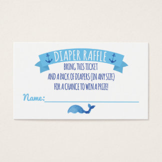Ahoy It's a Boy Diaper Raffle Card