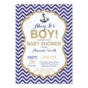 Ahoy Itu0027s A Boy! Nautical Baby Shower Invitation