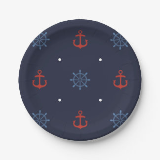 Ahoy It's a Boy Nautical Baby Shower Plates
