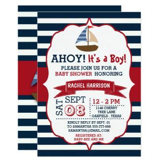 Delightful Nautical Boat Baby Shower Invites