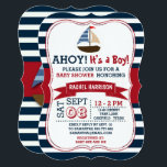 "Ahoy It&#39;s A Boy! Nautical Boat Baby Shower Invites<br><div class=""desc"">Ahoy It&#39;s A Boy! Nautical Boat Baby Shower Invites.</div>"