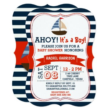 Invitation_Republic Ahoy It's A Boy! Nautical Boat Baby Shower Invites