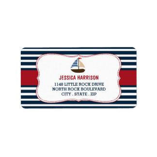 Ahoy It's A Boy! Nautical Boat Baby Shower Labels
