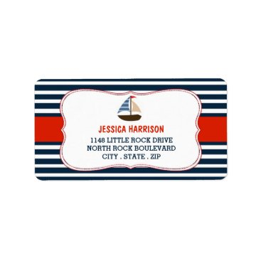 Beach Themed Ahoy It's A Boy! Nautical Boat Baby Shower Labels