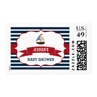 Ahoy It's A Boy! Nautical Boat Baby Shower Postage