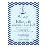 Ahoy It's A Boy Nautical Sailboat Boy Baby Shower Invitation
